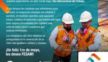 FESAM conmemora un nuevo 1ro de mayo, día internacional del trabajador.