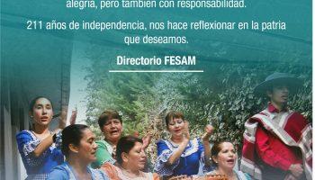 Feliz 18 de Septiembre, les desea, Federación de Sindicatos de Antofagasta Minerals.